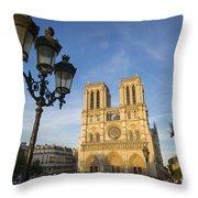 Notre Dame Tourists Throw Pillow