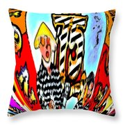 Notre Debut Abstract Throw Pillow