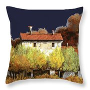 Notte In Campagna Throw Pillow by Guido Borelli