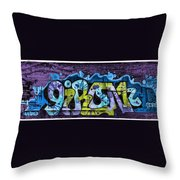Nouveau Graffiti Throw Pillow