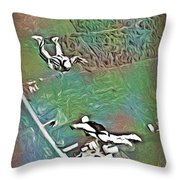 Nova Scotia Skydivers Throw Pillow