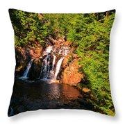 Nova Scotia Water Falls Throw Pillow