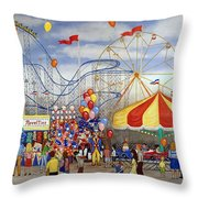 Novelties At The Carnival Throw Pillow