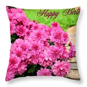 November Birthday Throw Pillow