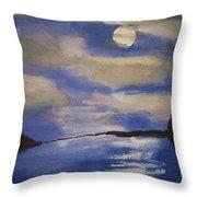 November Moon Throw Pillow