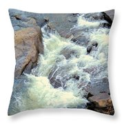 November's Streaming Waters Throw Pillow