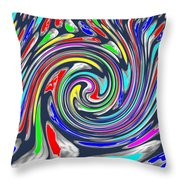 Novino Signature Art Walking Fine Lines Twirl Background Designs  And Color Tones N Color Shades Ava Throw Pillow