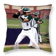Now Batting For The Hornets Throw Pillow