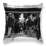 Now Boarding Track 12 And 10 For Home Bw Throw Pillow