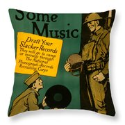 Now For Some Music Throw Pillow