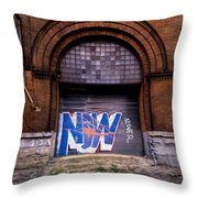 Now Graffiti Throw Pillow