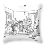Now, Last Time, Near The End Of Ravel's 'bolero,' Throw Pillow