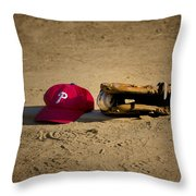 Now Pitching For The Phillies Throw Pillow