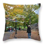 Now That's A Bubble Throw Pillow