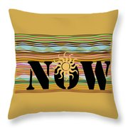 Now Wavy Throw Pillow