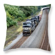 Ns 9629 Lead Intermodal Throw Pillow