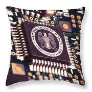 Nsa Computer Chip Throw Pillow