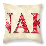 Nu Alpha Kappa - Parchment Throw Pillow