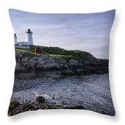 Nubble Dawn Throw Pillow by Joan Carroll