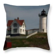 Nubble In Soft Focus Throw Pillow