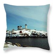 Nubble Lighthouse 3 Throw Pillow