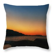 Nubble Sunrise Throw Pillow