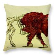 Nuclear Buffalo Throw Pillow