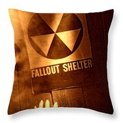 Nuclear Disaster Throw Pillow by Olivier Le Queinec