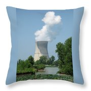 Nuclear Energy And Environment Throw Pillow