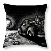 Nuclear Truck Throw Pillow