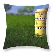 Nuclear Waste Throw Pillow