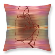 Nude 12 Throw Pillow by Patrick J Murphy