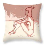 Nude 27 Throw Pillow