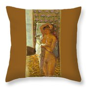 Nude Against The Light Throw Pillow by Granger