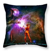 Nude Amongst The Stars 3... Throw Pillow