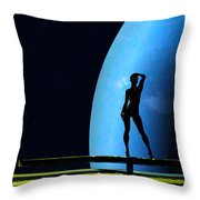 Nude Amongst The Stars... Throw Pillow