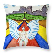Nude Angel Road Throw Pillow