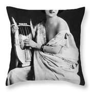 Nude As Ancient Lyrist Throw Pillow