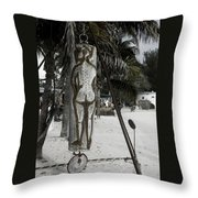 Nude Beach Throw Pillow