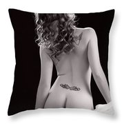 Nude Girl Woman Booty 1200.01 Throw Pillow