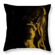 Nude - Chiaroscuro Throw Pillow by Dorina  Costras