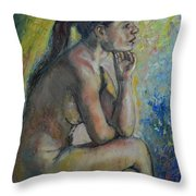 Nude Eva 2 Throw Pillow