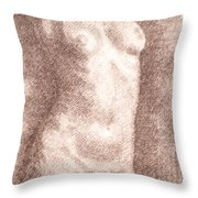 Nude Female Torso Drawings 2  Throw Pillow