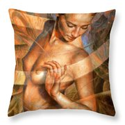 Nude Girl7 Throw Pillow
