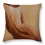 Nude II Throw Pillow