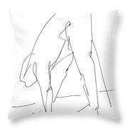 Nude Male Drawings 32 Throw Pillow
