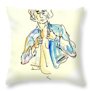 Nude Male Drawings 4w Throw Pillow