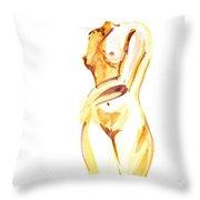 Nude Model Gesture II Throw Pillow