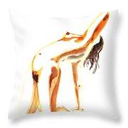 Nude Model Gesture IIi Throw Pillow