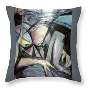 Nude Model In Studio Throw Pillow